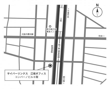 江坂事務所MAP